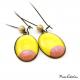 Boucles d'oreille ovales - Lune Rose