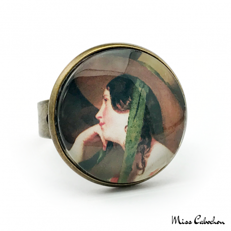 "Ring ""The young woman with a hat"""