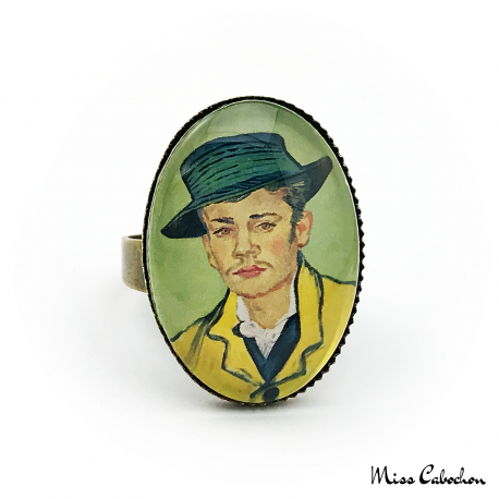 "Oval ring ""Portrait of Armand Roulin"" by Vincent van Gogh"