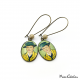 "Earrings ""Portrait of Armand Roulin"" by Vincent van Gogh"