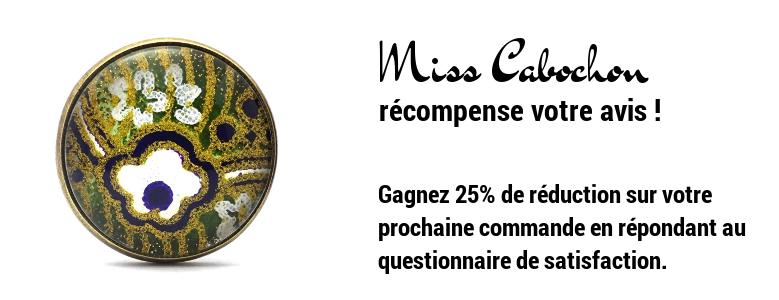 Miss Cabochon récompense votre avis !